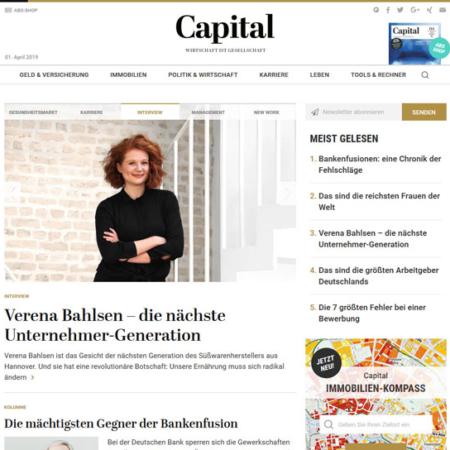 capital.de Startseite (Desktop)