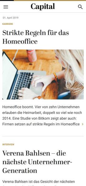 capital.de Startseite (mobile Version)